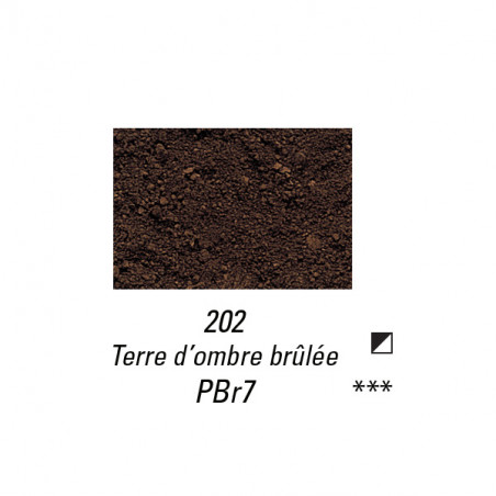 SENNELIER PIGMENT 140G S1 202 TERRE OMBRE BRULEE