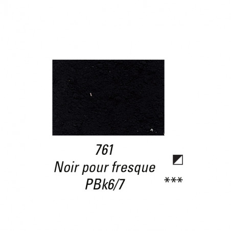 SENNELIER PIGMENT 35G S1 761 NOIR FRESQUE