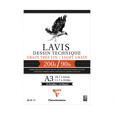 LAVIS TECHNIQUE 200G A3 BLOC 10F