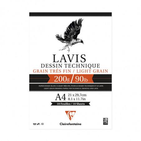 LAVIS TECHNIQUE 200G A4 BLOC 10F