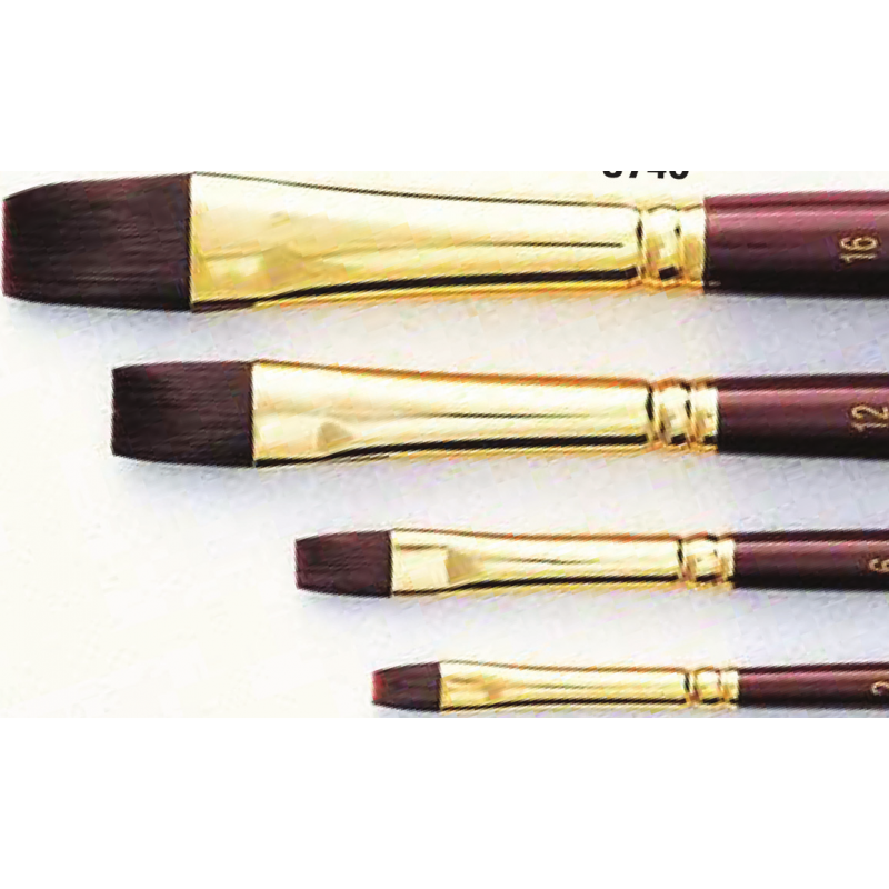 Pinceau synthétique plat Sépia série 8740 Raphaël