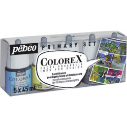 PEBEO SET ENCRES COLOREX 5X45ML