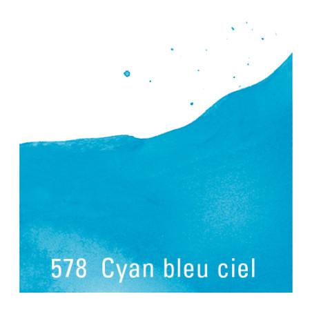 TALENS ECOLINE 30ML CYAN BLEU CIEL 578