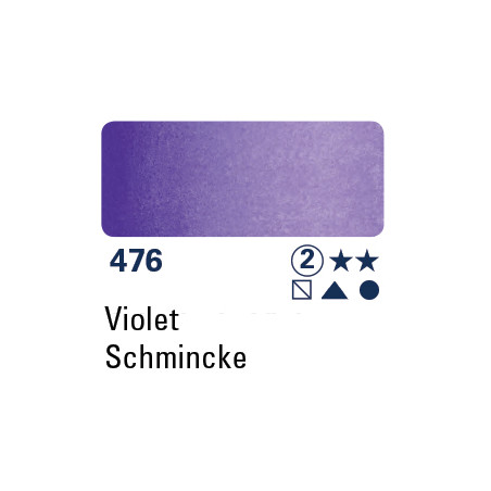SCHMINCKE AQUARELLE HORADAM 5ML S2 476 MAUVE