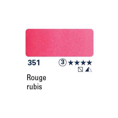 SCHMINCKE AQUARELLE HORADAM 15ML S3 351 ROUGE RUBIS