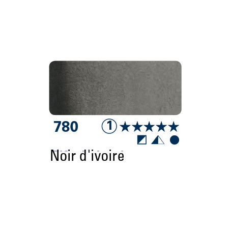 SCHMINCKE AQUARELLE HORADAM 5ML S1 780 NOIRE IVOIRE