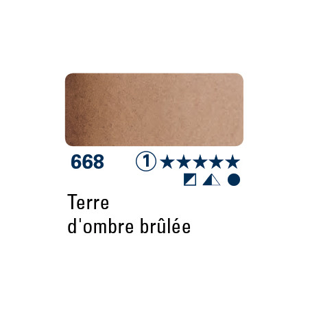 SCHMINCKE AQUARELLE HORADAM 5ML S1 668 TERRE OMBRE BRULEE