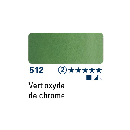 SCHMINCKE AQUARELLE HORADAM 5ML S2 512 VERT OXYDE DE CHROME
