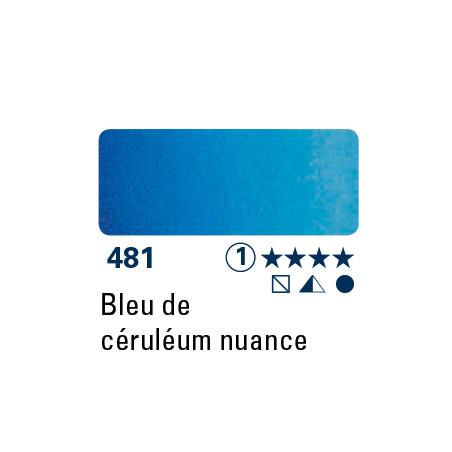 SCHMINCKE AQUARELLE HORADAM 15ML S1 481 TEINTE BLEU CERULEUM