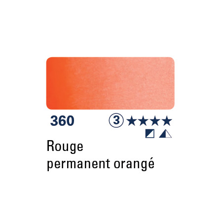 SCHMINCKE AQUARELLE HORADAM 15ML S3 360 ROUGE PERMANENT ORANGE