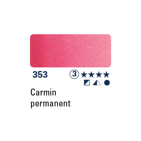 SCHMINCKE AQUARELLE HORADAM GODET S3 353 PERMANENT CARMIN/A EFFACER