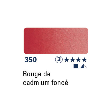 SCHMINCKE AQUARELLE HORADAM 15ML S3 350 ROUGE CAD FONCE