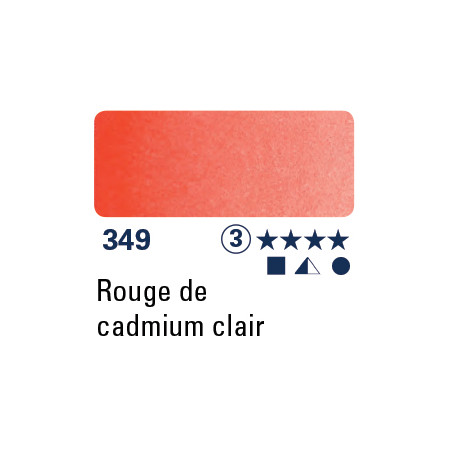 SCHMINCKE AQUARELLE HORADAM 5ML S3 349 ROUGE CAD CLAIR