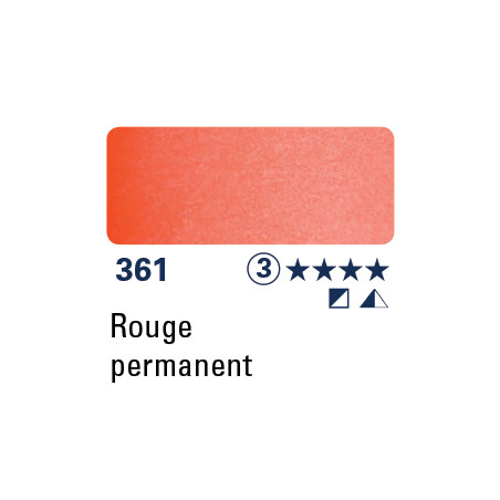 SCHMINCKE AQUARELLE HORADAM 15ML S3 361 ROUGE PERMANENT