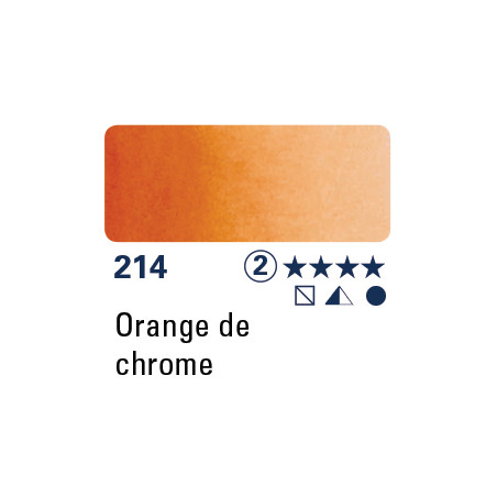 SCHMINCKE AQUARELLE HORADAM 15ML S2 214 CHROME ORANGE SS PB