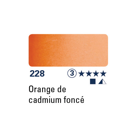 SCHMINCKE AQUARELLE HORADAM 15ML S3 228 ORANGE CAD FONCE