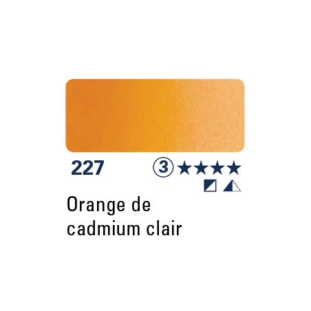SCHMINCKE AQUARELLE HORADAM 15ML S3 227 ORANGE CAD CLAIR