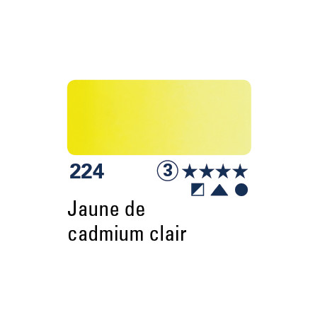 SCHMINCKE AQUARELLE HORADAM 5ML S3 224 JAUNE CAD CLAIR