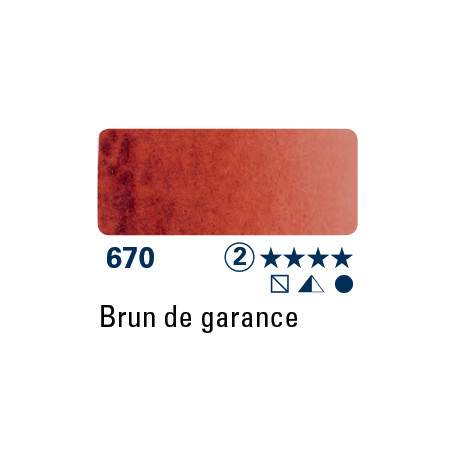 SCHMINCKE AQUARELLE HORADAM 15ML S2 670 BRUN DE GARANCE