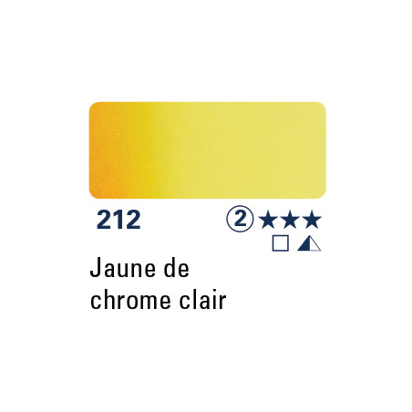 SCHMINCKE AQUARELLE HORADAM GODET S2 212 JAUNE CHROME CL/supp
