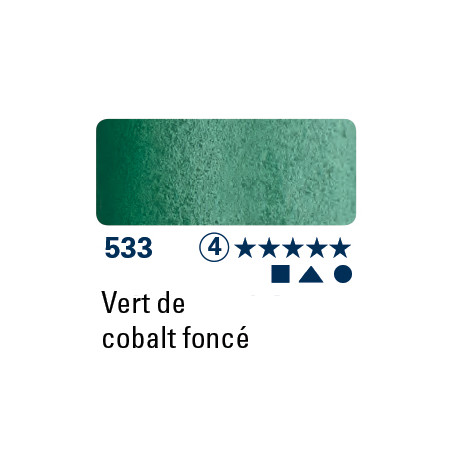 SCHMINCKE AQUARELLE HORADAM 5ML S4 533 VERT COBALT FONCE