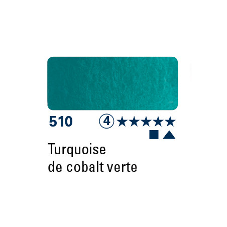 SCHMINCKE AQUARELLE HORADAM 5ML S4 510 TURQ COBALT VERT
