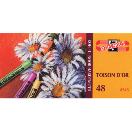 TOISON DOR BOITE 48 PASTELS SECS