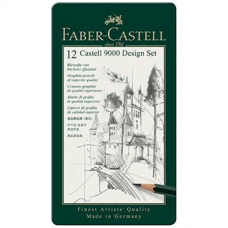 FABER CASTEL SET DESIGN 9000 12 CRAYONA