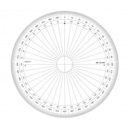 GRAPHOPLEX RAPPORTEUR ENTIER 360 20CM