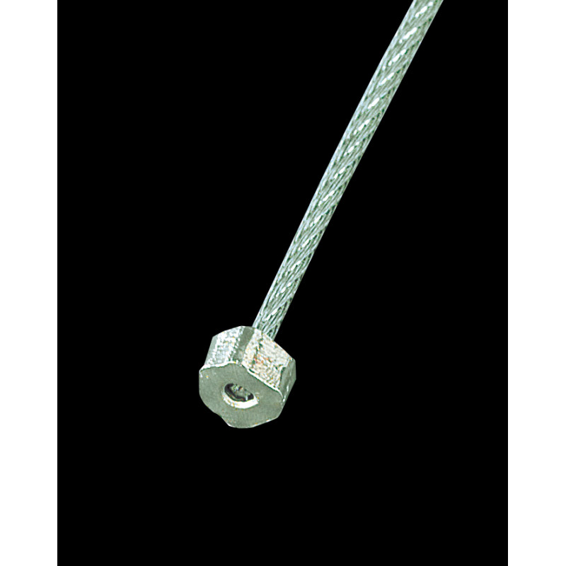 Cordon de perlon muni d'un crochet hexagonal de blocage