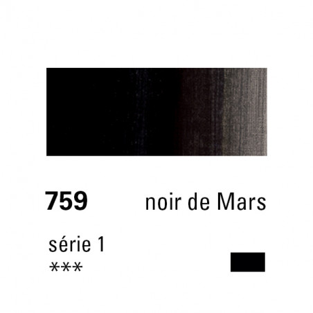 SENNELIER HUILE EXTRA FINE 40ML S1 759 NOIR MARS