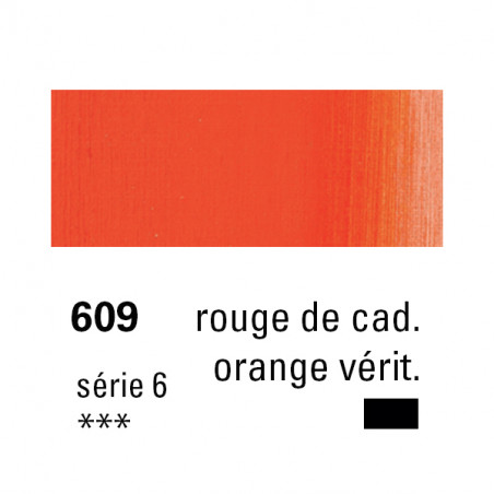 SENNELIER HUILE EXTRA FINE 40ML S6 609 ROUGE CAD ORANGE VERIT