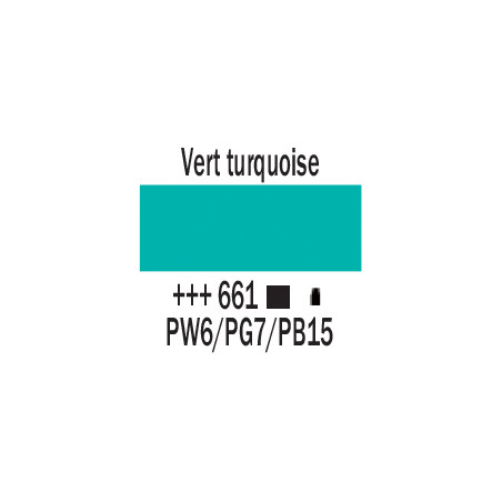 AMSTERDAM ACRYLIQUE 250ML 661 VERT TURQUOISE