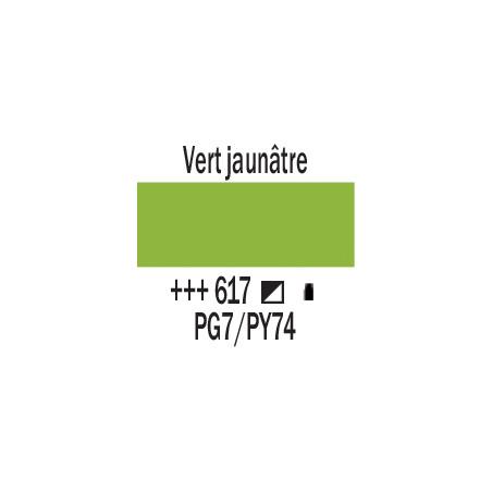 AMSTERDAM ACRYLIQUE 120ML 617 VERT JAUNATRE