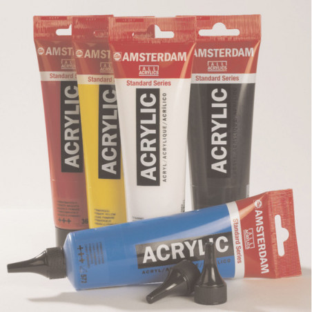 AMSTERDAM PACK ACRYLIQUE 5X120ML EMBOUTS