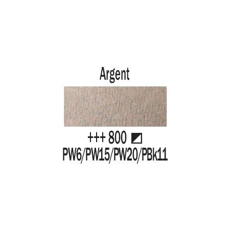 AMSTERDAM ACRYLIQUE 500ML 800 ARGENT