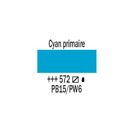 AMSTERDAM ACRYLIQUE 500ML 572 CYAN PRIMAIRE