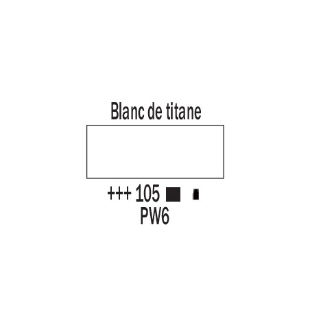 AMSTERDAM ACRYLIQUE 120ML 105 BLANC TITANE