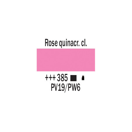 AMSTERDAM ACRYLIQUE 120ML 385 ROSE QUINA CL