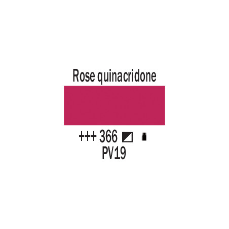 AMSTERDAM ACRYLIQUE 120ML 366 ROSE QUINA