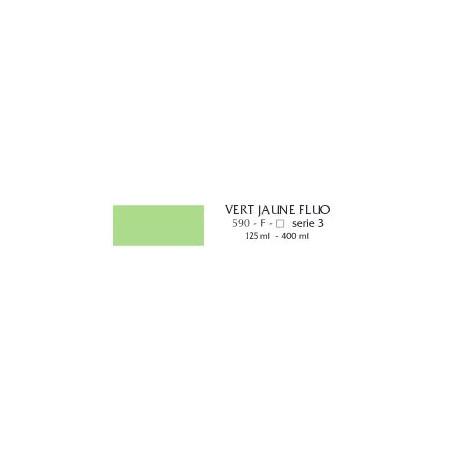 FLASHE VINYLIQUE 125ML 590 FLUO VERT JAUNE
