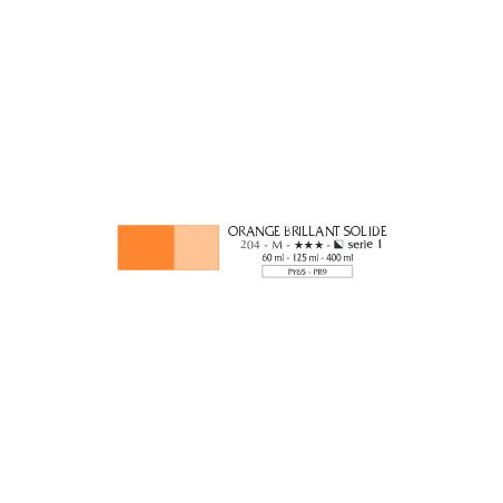 FLASHE VINYLIQUE 125ML 204 ORANGE BRILL SOLID