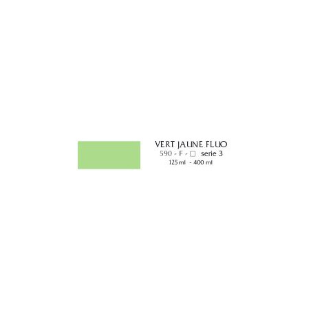 FLASHE VINYLIQUE 400ML S3 VERT JAUNE FLUO