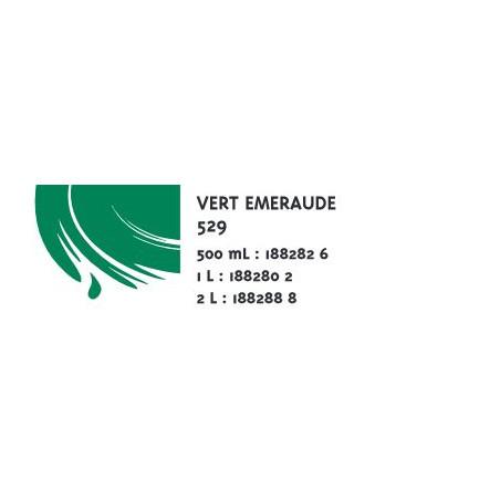 COLOR&CO GOUACHE 500ML 529 VERT EMERAUDE