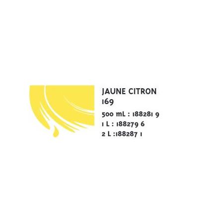 COLOR&CO GOUACHE 500ML 169 JNE CITRON