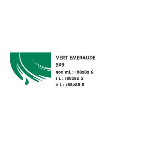 COLOR&CO GOUACHE 1L 529 VERT EMERAUDE