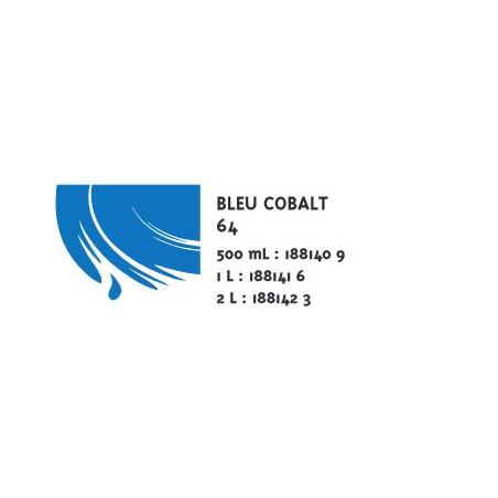 COLOR&CO GOUACHE 1L 64 BLEU COBALT