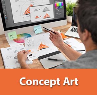 fournitures étudiants concept art 3D