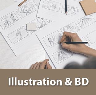 fournitures étudiants illustration et BD